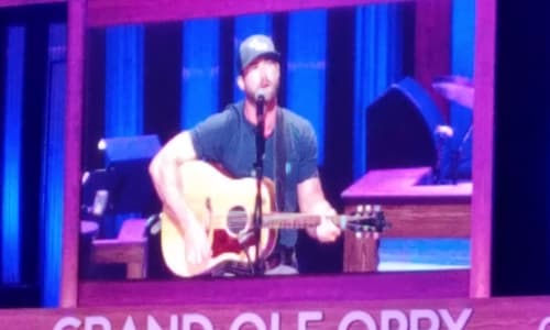 Singing and Playing Guitar at the Grand Ole Opry Country Music Show