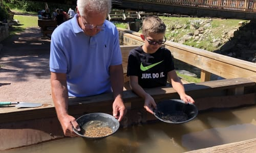 Panning for Gold at Big Thunder Gold Mine