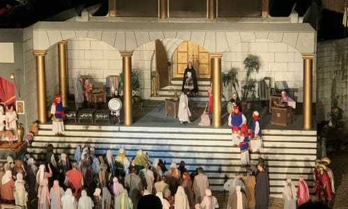 Set at the Great Passion Play