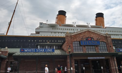 Outside the Titanic near RainForest Adventures Discovery Zoo