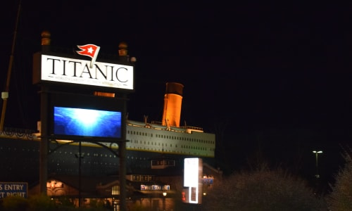 Titanic at Night near the Hatfield and McCoy Dinner Show