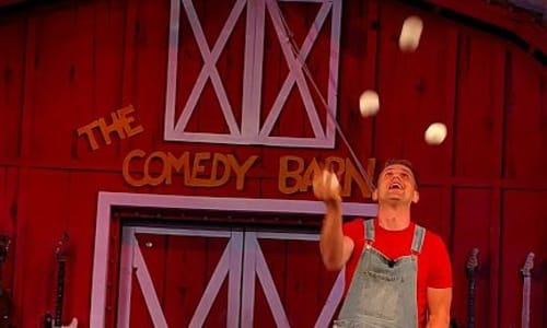 Juggling at the Comedy Barn Pigeon Forge