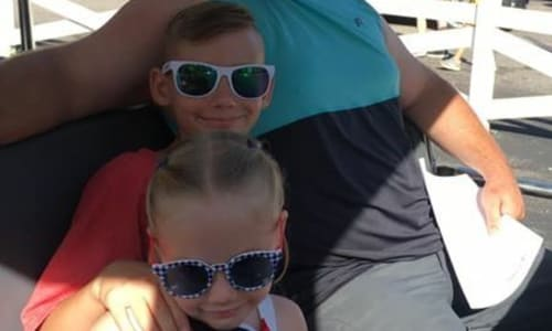 Family on the Tram at Dollywood Theme Park Tennessee