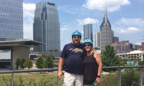 In Front of the Skyline with the Nashville Segway Tours