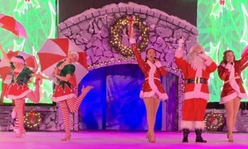 Singing at Christmas on Ice