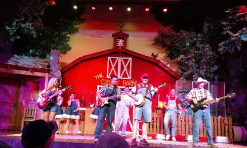 Playing at Comedy Barn Pigeon Forge