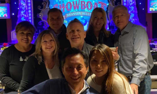 Group Pic on the Showboat Branson Belle Lunch and Dinner Cruises