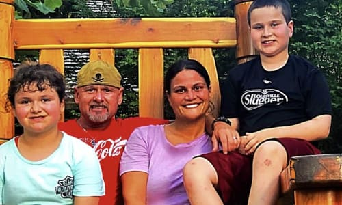 Family in the Chair at Silver Dollar City