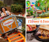 Dollywood Theme Park Tennessee Flower  Food Festival Collage