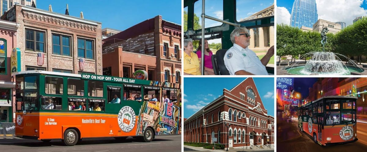 Nashville Old Town Trolley Tour Collage