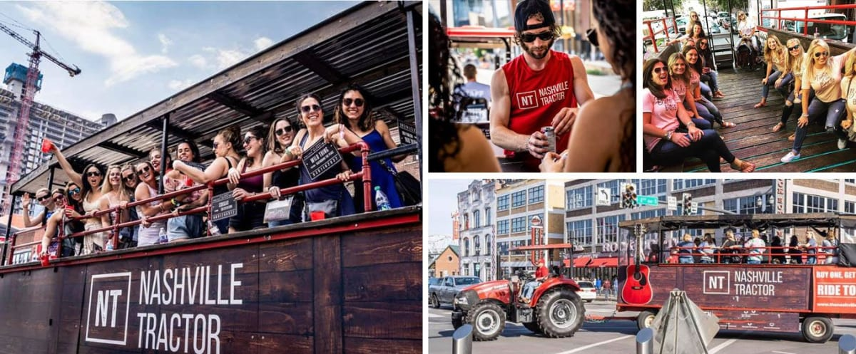 The Nashville Party Tractor Collage