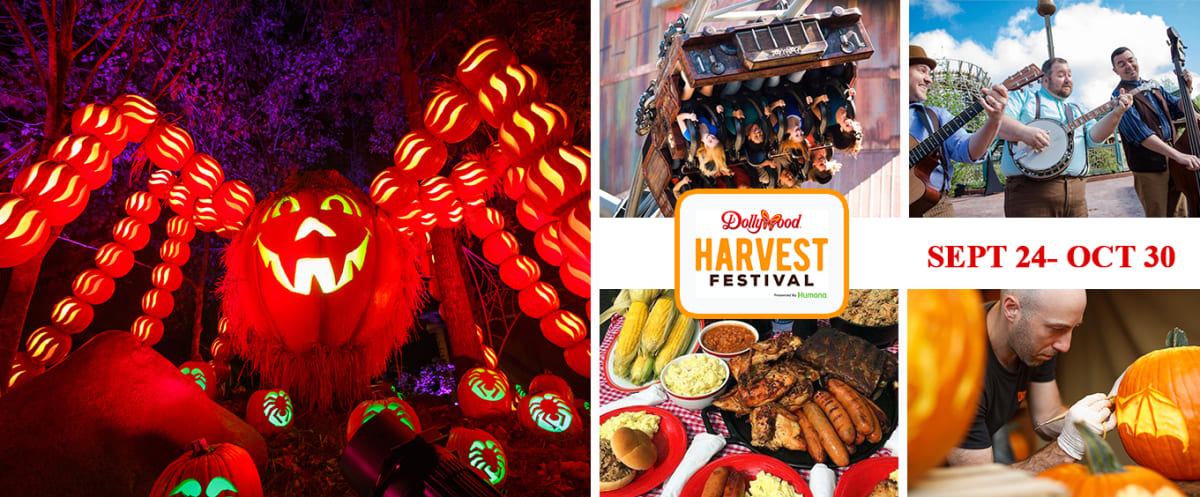 Harvest Festival Collage Dollywood Theme Park Tennessee