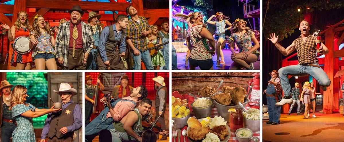 Hatfield and McCoy Dinner Show Collage