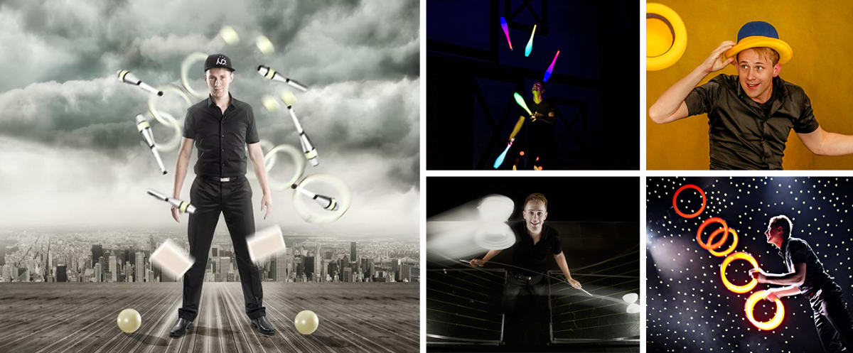 Catch This! Juggling Show Collage