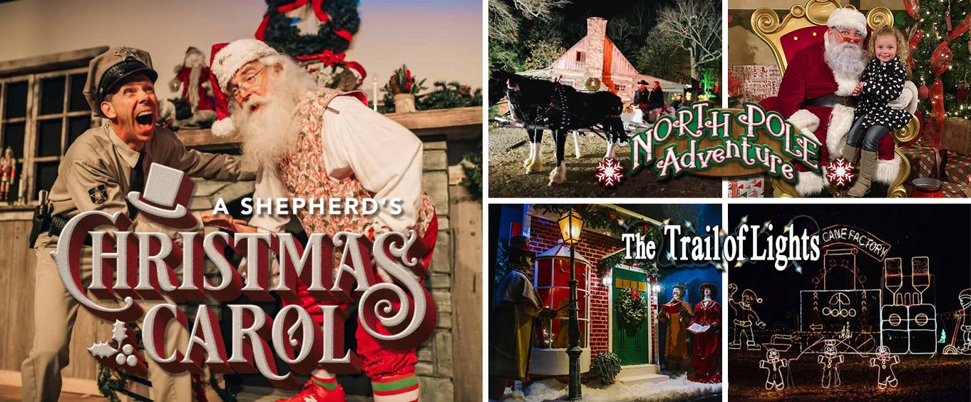 Shepherd Of The Hills Christmas Attractions (Trail of Lights, North Pole Adventure, & A Shepherd's Christmas Carol Dinner Show)