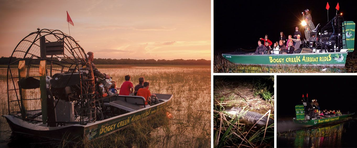 One Hour Airboat Ride at Night