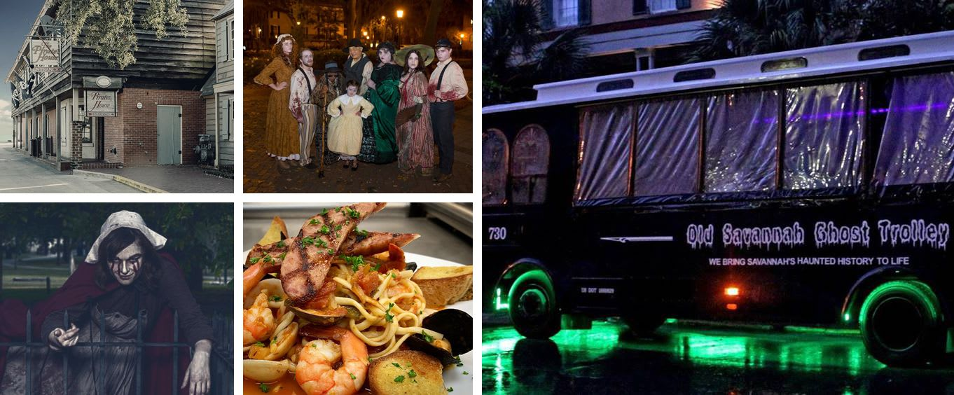 Ghost Trolley Tour with Pirates House Tour & Dinner