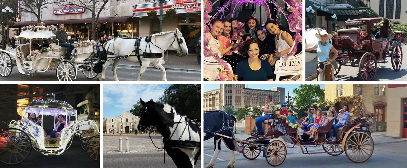 Lollypop Carriage Company Downtown San Antonio Carriage Rides