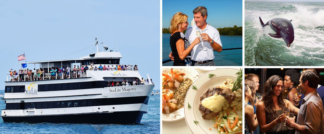 Tampa Sightseeing Cruises aboard the Starlite Majesty of Clearwater Beach, FL