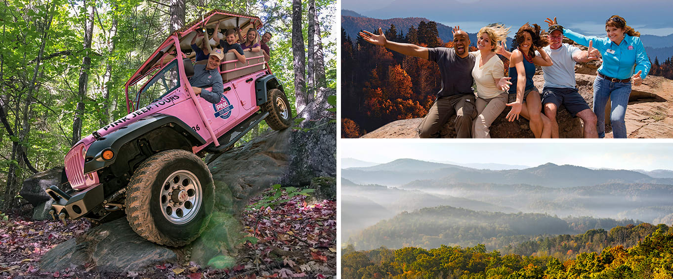 Smoky Mountains Roaring Fork 2.5 HOUR Pink Jeep Tour