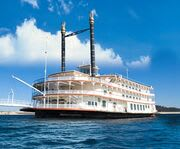 Exterior of the Showboat Branson Belle Lunch and Dinner Cruises