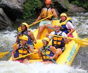 In the Air with Pigeon Forge Smoky Mountain Whitewater Rafting