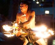 Fire Dancing at Polynesian Luau & Fire Dinner Show at the Orlando Forum