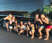 Enjoying a Drink with the Discover Branson Luxury Mercedes Van Tour