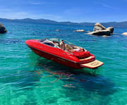 Grateful Red 2 Hour Private Boat Charter with Captain on Lake Tahoe
