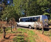 Bus for the El Dorado County Wine & Harvest Tour in Apple Hill