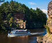 On the Lower Dells Boat Tour