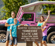 Family on the Smoky Mountains Roaring Fork 2.5 HOUR Pink Jeep Tour