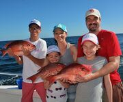 Family with Gulf of Mexico Deep Sea Fishing