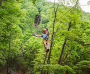 Fun at Great Woodsman Zipline Tour