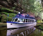 In the Dells with the Upper Dells Boat Tour