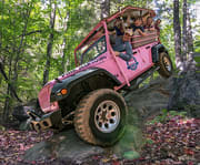 Boy on the Smoky Mountains Roaring Fork 2.5 HOUR Pink Jeep Tour