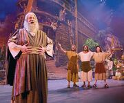 Loading the Ark at Noah The Musical at Sight & Sound Millennium Theatre Lancaster, PA