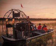 On the Airboat with the One Hour Airboat Ride at Night