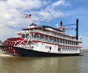 Riverboat with Riverboat City of New Orleans
