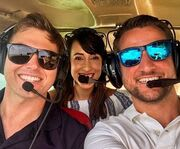 Three Friends on a Clearwater Helicopter Tour