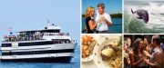 Tampa Sightseeing Cruises aboard the Starlite Majesty of Clearwater Beach, FL Collage