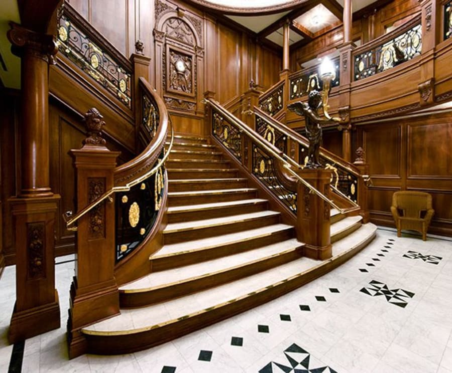 Grand Staircase at Branson Titanic - World's Largest Museum Attraction