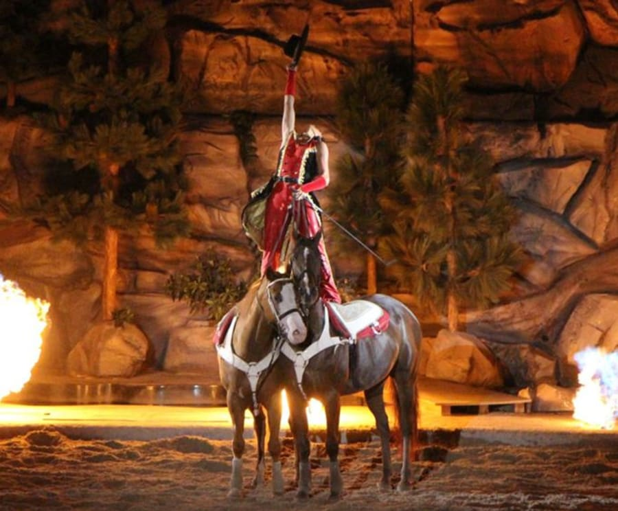 Incredible Horseback Performance