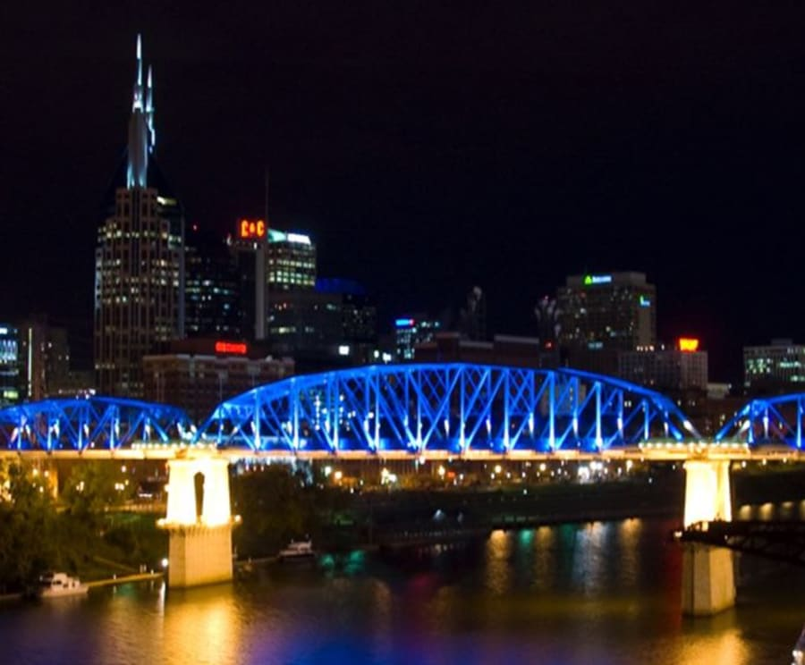 Bridge with Lights in Nashville