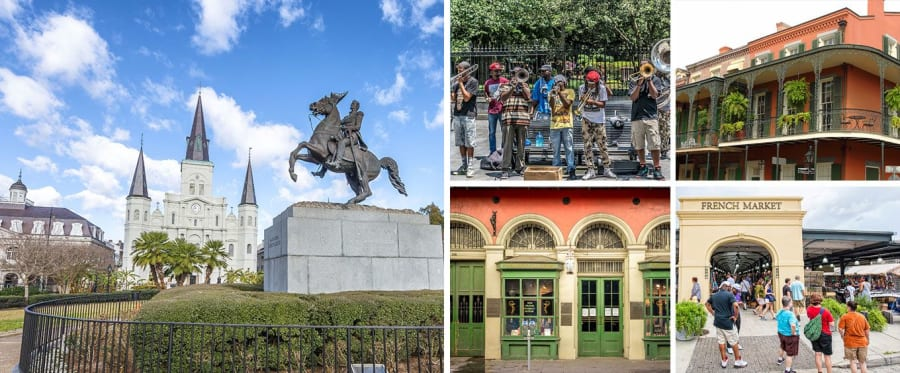 French Quarter Walking Tour Collage