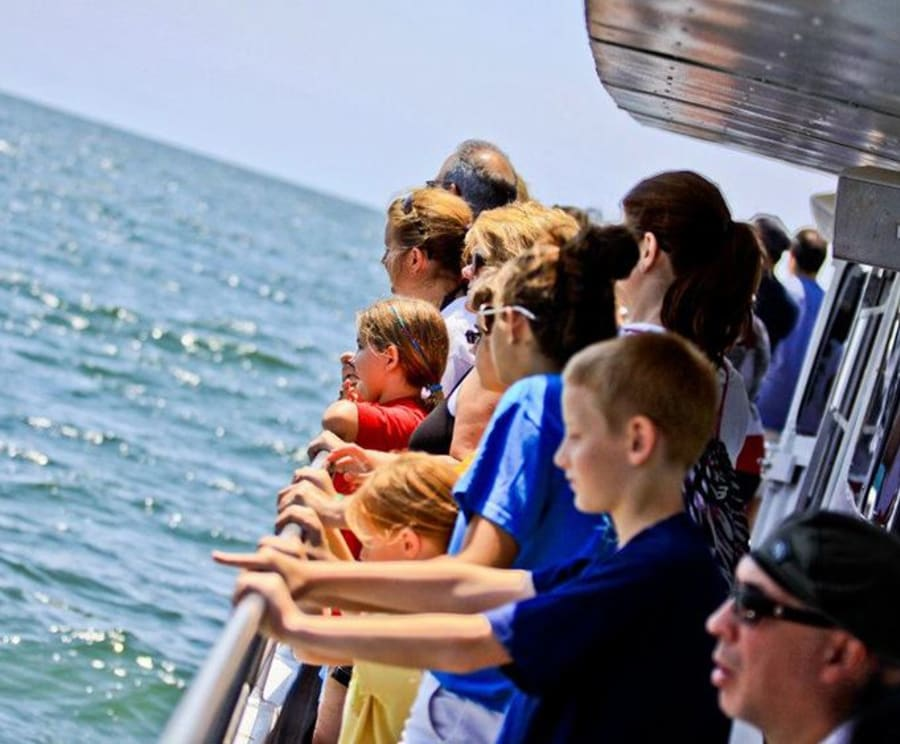 Guests on the Historical Atlantic City Skyline & Boardwalk Sightseeing Cruise
