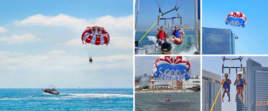 Atlantic City Parasailing Experience Collage