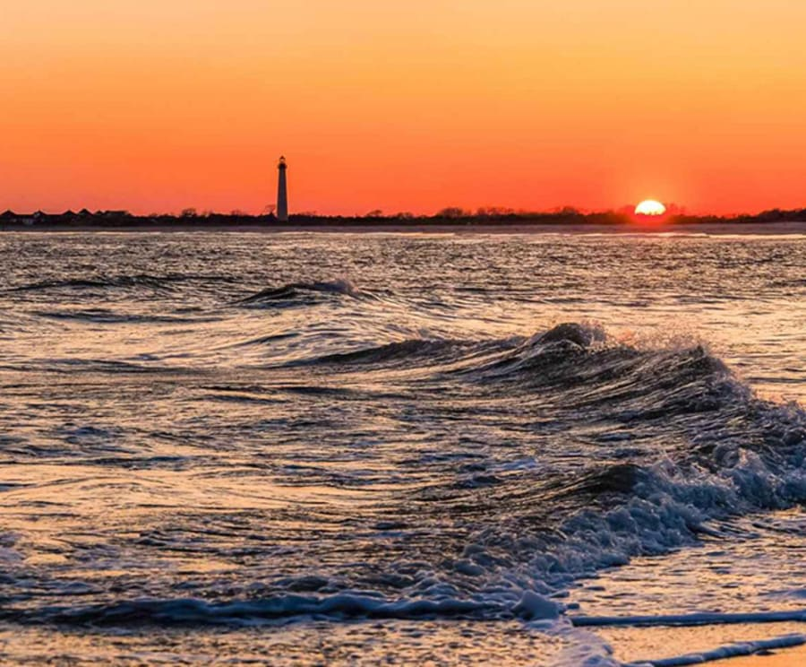 Sunset with the Cape May Island Sunset Cruise & Dolphin Watching