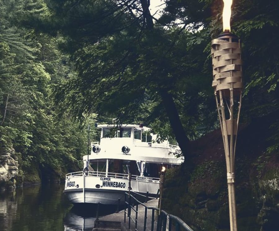 Clipper Winnebago with the Wisconsin Dells Ghost Boat