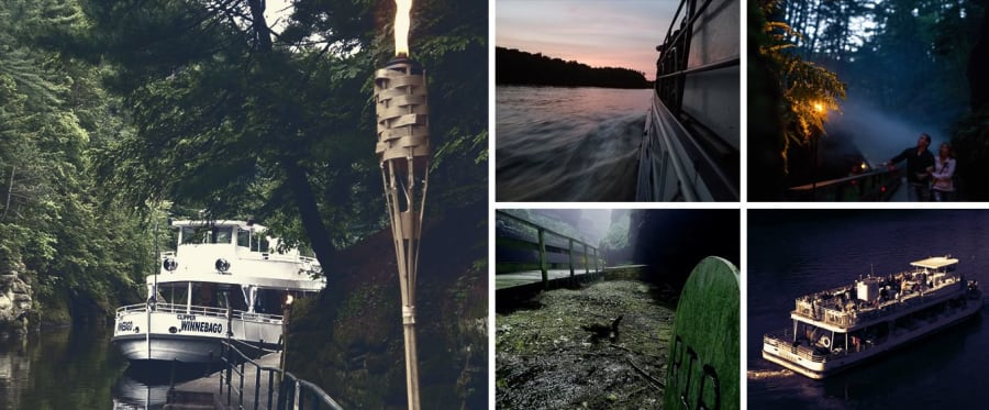 Wisconsin Dells Ghost Boat Collage